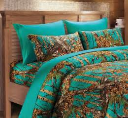 Blue Camo Bed Set Teal Camo Sheet Set Twin Size Bedding 3 Pc Camouflage Blue