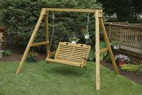 sheds and swings a frame 4 high back swing custom barns and buildings
