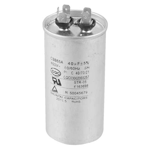 electric motor capacitor cbb65a 450v ac 50 60hz 40uf 5 electric motor start