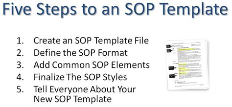 how to create a sop template image gallery iso 9001 operating procedure