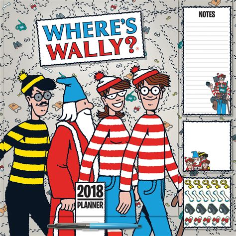 Calendar Where Is Wally Where S Wally Family Planner 2018 Square Wall Carousel