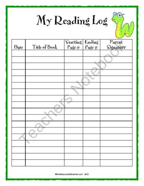 printable daily reading log with parent signature daily reading log is used for students to chart their