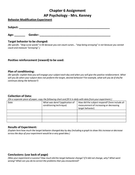 behavior modification plan template 10 best images of behavior modification chart template