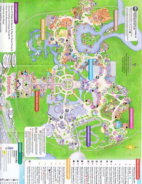disney world magic kingdom map magic kingdom at walt disney world 2016 park map