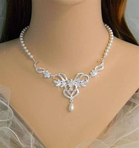 braut collier bridal jewelry set wedding jewelry pearl bridal necklace