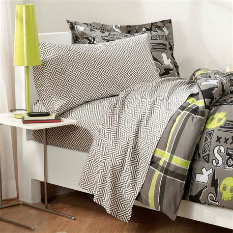 teen boy comforter set black gray skateboard bedding teen boy twin or full