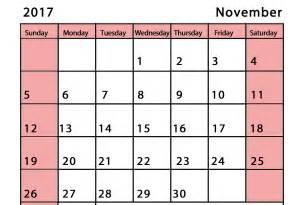 Calendar November 2017 Pdf November 2017 Calendar Pdf Calendar And Images
