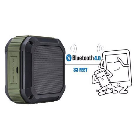 Speaker Bluetooth Aukey Sk M16 Outdoor Waterproof Stereo aukey mini outdoor waterproof stereo bluetooth speaker sk m16 green jakartanotebook
