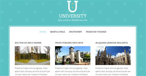 membuat website universitas dengan wordpress 10 template wordpress gratis responsive keren untuk
