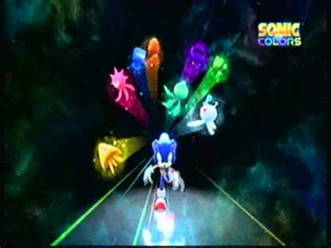 press start: sonic colors title screen youtube
