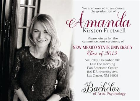 Mba Graduation Announcement Template by 25 Best Ideas About College Graduation Announcements On