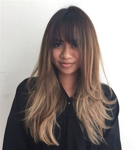 image result for blunt bangs and balayage coiffure coiffures m 232 ches et beaut 233 image result for balayage with bangs hair ideas for clients