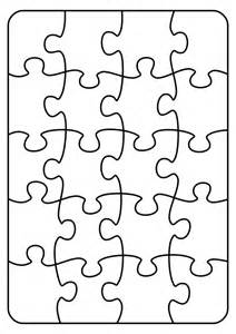 Jigsaw Puzzle Template Printable by Clipart Jigsaw 20