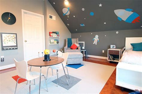 childrens bedroom space theme 25 cool kids bedrooms that charm with gorgeous gray