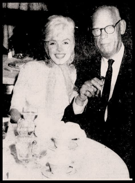 marilyn monroe s mother marilyn monroe with arthur miller s father isadore miller