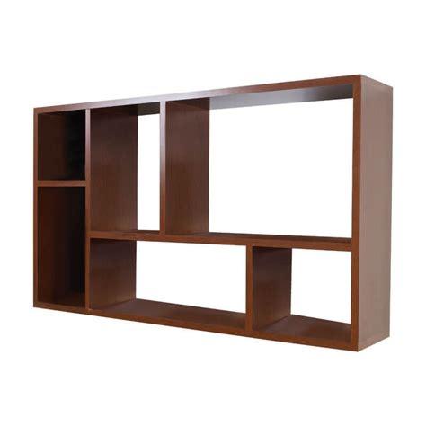 mueble librero organizador ibiza chocolate nogal blanco - Librero Organizador