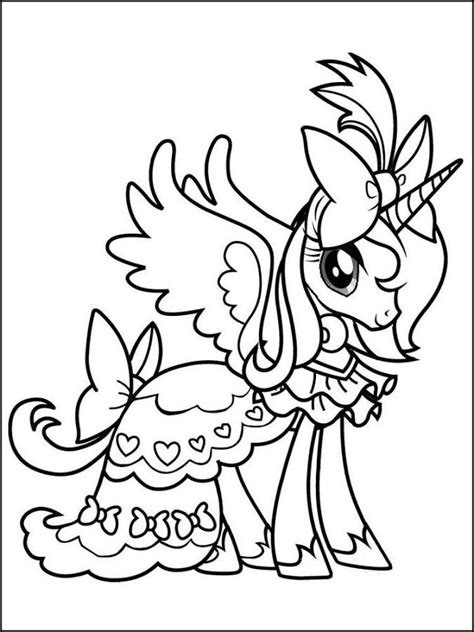 My Pretty Pony Coloring Pages - Coloring Home
