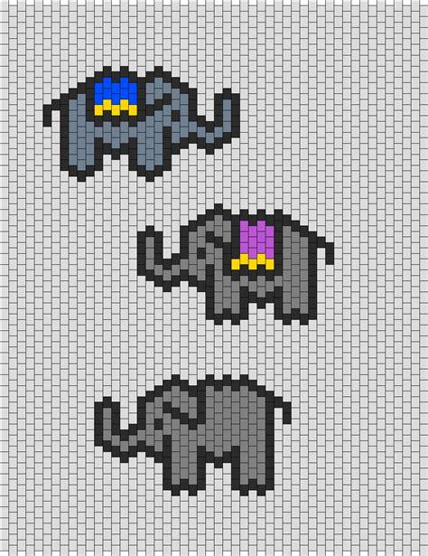 perler bead small patterns small elephants my bead pattern creations
