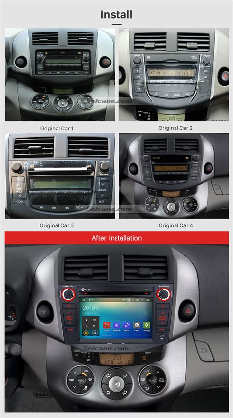 how cars run 2008 toyota rav4 navigation system android 7 1 car radio gps navigation dvd player bluetooth stereo for 2006 2012 toyota rav4 with
