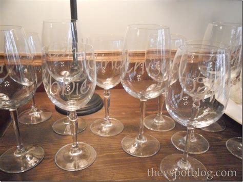 personalized barware glasses personalize wine glasses with glass etching cream the v spot