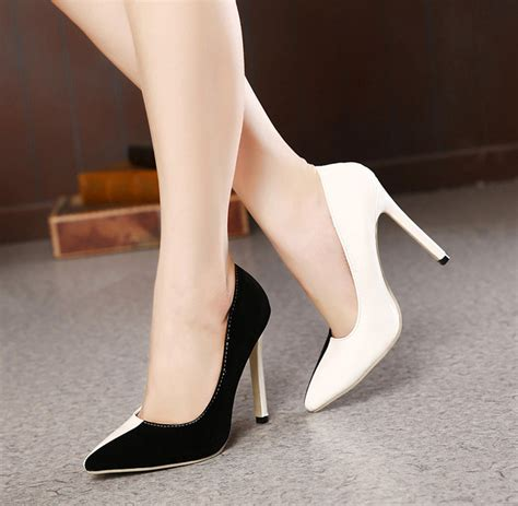 black and white high heels popular white stilettos buy cheap white stilettos lots