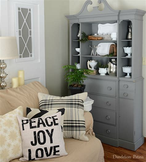 Hutch In Living Room by Happy Holidays Home Tour Dandelion Patina