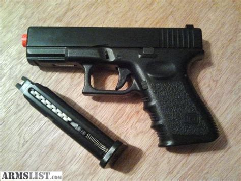 armslist for sale kj works glock 23 airsoft gun w metal slide 750 6mm bb s