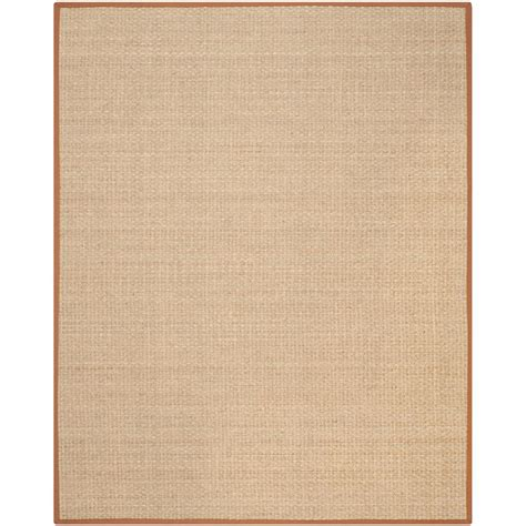 Beige And Brown Area Rugs Safavieh Fiber Beige Brown 8 Ft X 10 Ft Area Rug Nf114b 8 The Home Depot