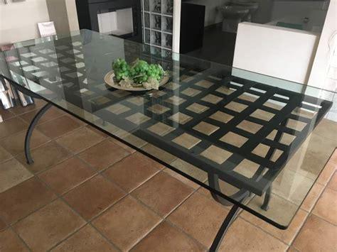 tavolo giardino ferro battuto tavolo da giardino ferro battuto e vetro a traversetolo