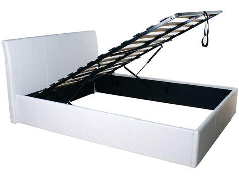 single white leather ottoman bed gfw denver 3ft single white faux leather ottoman lift bed