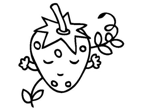 imagenes para colorear fresa dibujo de fresa pensando para colorear dibujos net