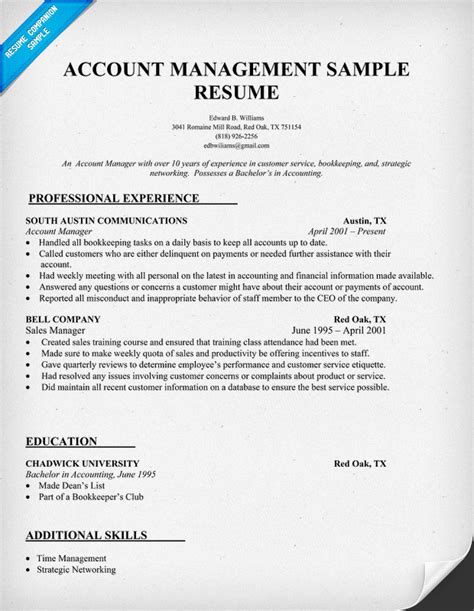 Account Manager Resume Exles by Pin Caregiver Resume Image Search Results On
