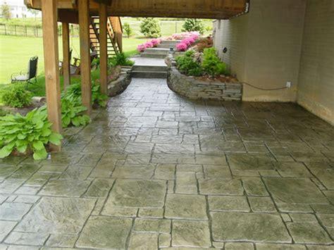 creative sted concrete patio designs in classic home