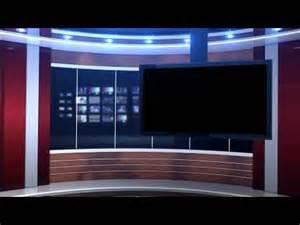 red studio background virtual set youtube