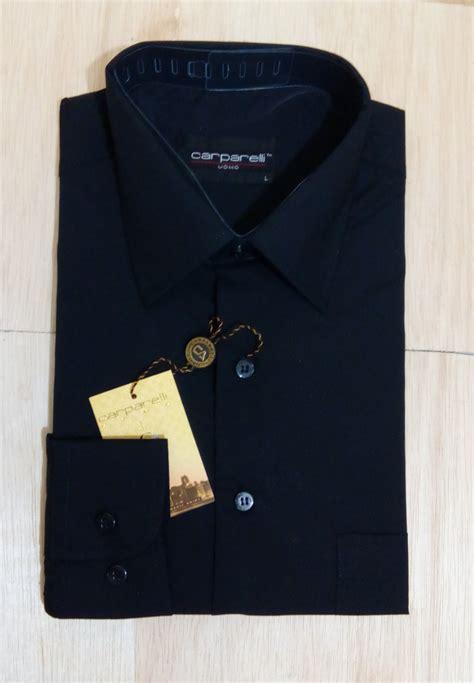Kemeja Hitam Polos Kerja Kantor Formal jual kemeja formal hitam pria kemeja formal pria baju