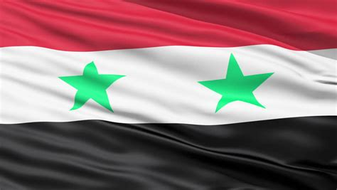 Syiria Green flag of syria beautiful 3d animation of syria flag in loop