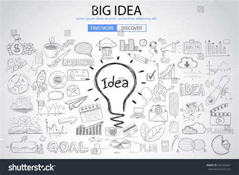 doodle 4 my invention big idea concept doodle design style stock vector