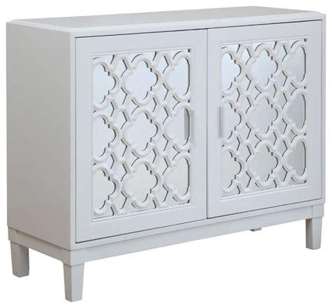 regency 2 doors accent chest storage cabinet silver park hills white 2 door cabinet 78726 transitional