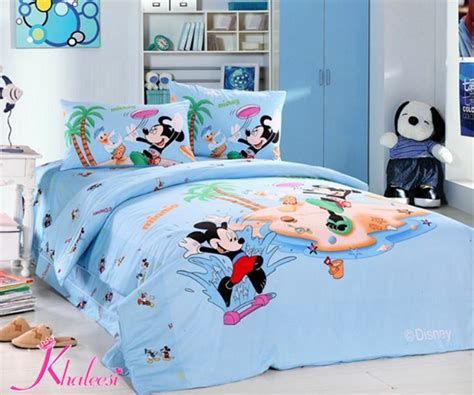 Bedcover Set Motif Mickey Mouse 160x200 Bed Cover Set Sprei Grow bed linen mickey minnie mouse bedding sets pattern