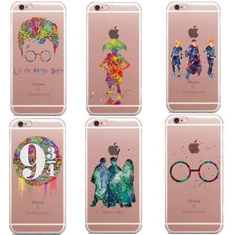 Casing Hp Unik 3in1 Apple Logo Iphone 6 6s 6plus 7 7plus Black hp characters watercolor soft clear iphone