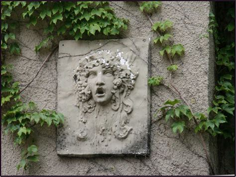 garden wall decor ideas medusa cement garden wall ideas 2910 hostelgarden net