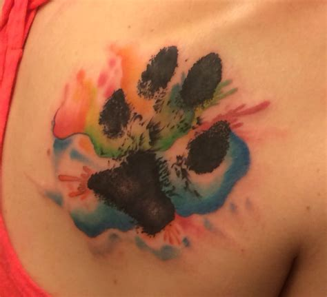 watercolor tattoo ek i paw print watercolor my pins