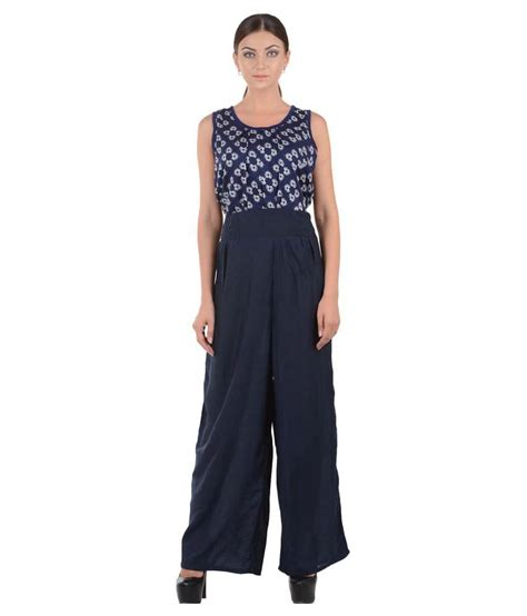 20240 Popular Jumpsuit L buy fayona blue rayon jumpsuits at best prices in india snapdeal
