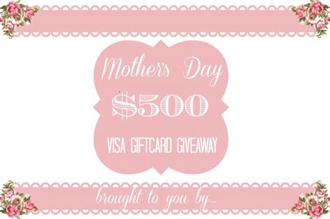 Mother S Day Giveaway - mother s day 500 gift card giveaway sandyalamode