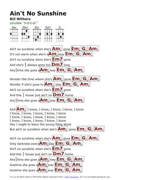 Ain\'t no sunshine guitar pro tab download