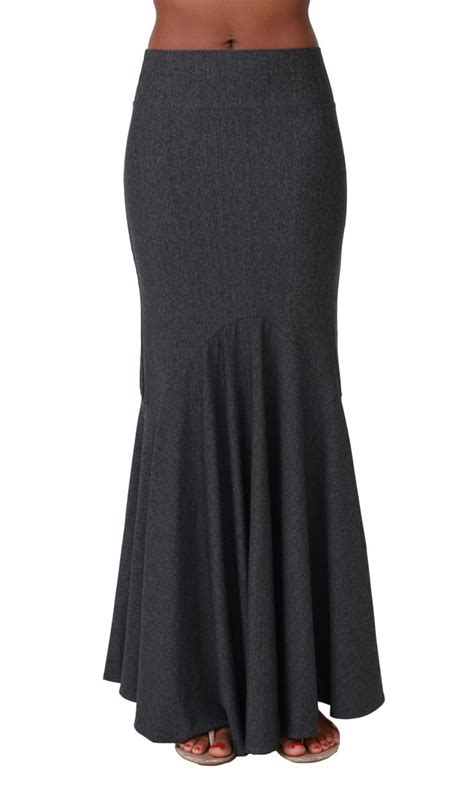 exclusive maxi skirt in charcoal