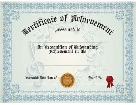 Generic Certificate Template buy generic achievement certificate awards