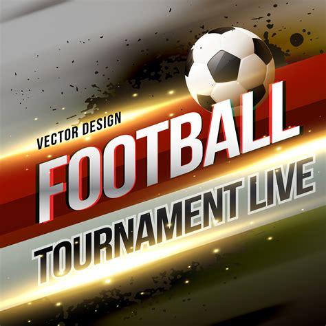 football tournament broadcast lbackground design