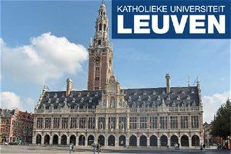 Ku Leuven Mba Tuition Fees by K U Leuven Phd Scholarships For