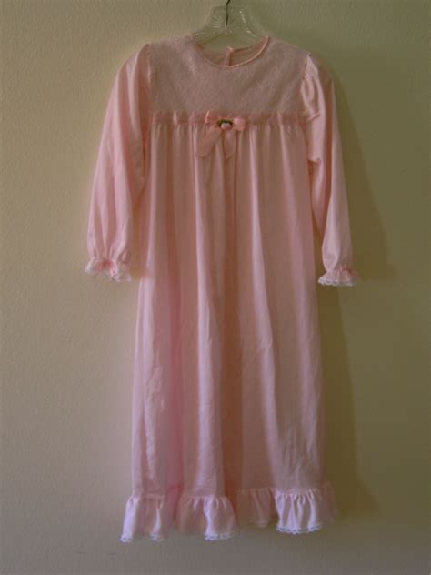 Floor Length Nightie by Pink Nightgown Floor Length Size 8 Clothing